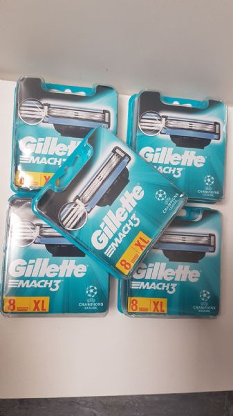 Joblot of 10x Gillette Mach3 Wholesale - 8 Blades